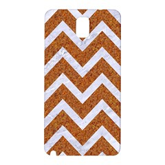 Chevron9 White Marble & Rusted Metal Samsung Galaxy Note 3 N9005 Hardshell Back Case by trendistuff