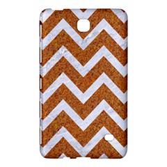 Chevron9 White Marble & Rusted Metal Samsung Galaxy Tab 4 (8 ) Hardshell Case  by trendistuff