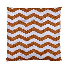 Chevron3 White Marble & Rusted Metal Standard Cushion Case (one Side)