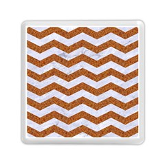 Chevron3 White Marble & Rusted Metal Memory Card Reader (square)  by trendistuff