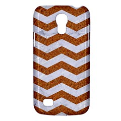 Chevron3 White Marble & Rusted Metal Galaxy S4 Mini by trendistuff