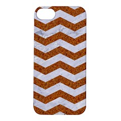 Chevron3 White Marble & Rusted Metal Apple Iphone 5s/ Se Hardshell Case by trendistuff
