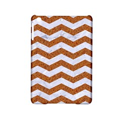 Chevron3 White Marble & Rusted Metal Ipad Mini 2 Hardshell Cases by trendistuff