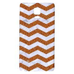 Chevron3 White Marble & Rusted Metal Galaxy Note 4 Back Case by trendistuff