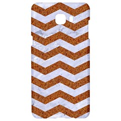 Chevron3 White Marble & Rusted Metal Samsung C9 Pro Hardshell Case  by trendistuff