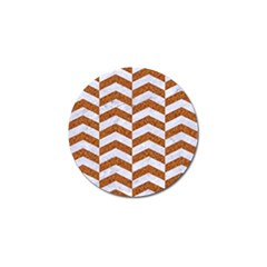 Chevron2 White Marble & Rusted Metal Golf Ball Marker (4 Pack) by trendistuff