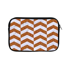 Chevron2 White Marble & Rusted Metal Apple Ipad Mini Zipper Cases by trendistuff