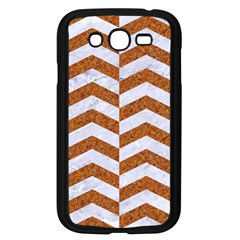 Chevron2 White Marble & Rusted Metal Samsung Galaxy Grand Duos I9082 Case (black) by trendistuff