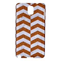 Chevron2 White Marble & Rusted Metal Samsung Galaxy Note 3 N9005 Hardshell Case by trendistuff
