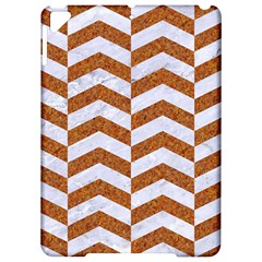 Chevron2 White Marble & Rusted Metal Apple Ipad Pro 9 7   Hardshell Case by trendistuff