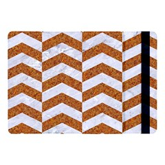 Chevron2 White Marble & Rusted Metal Apple Ipad Pro 10 5   Flip Case by trendistuff