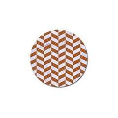 Chevron1 White Marble & Rusted Metal Golf Ball Marker (10 Pack) by trendistuff