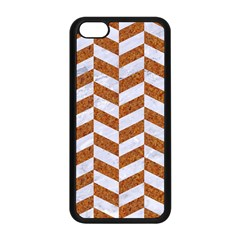 Chevron1 White Marble & Rusted Metal Apple Iphone 5c Seamless Case (black) by trendistuff