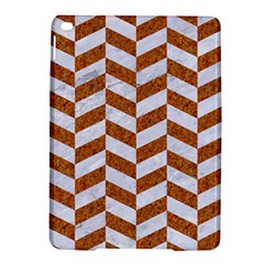 Chevron1 White Marble & Rusted Metal Ipad Air 2 Hardshell Cases by trendistuff