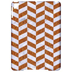 Chevron1 White Marble & Rusted Metal Apple Ipad Pro 9 7   Hardshell Case by trendistuff