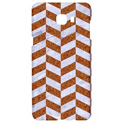 Chevron1 White Marble & Rusted Metal Samsung C9 Pro Hardshell Case  by trendistuff