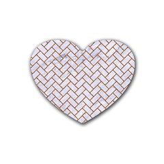 Brick2 White Marble & Rusted Metal (r) Heart Coaster (4 Pack)  by trendistuff