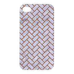 Brick2 White Marble & Rusted Metal (r) Apple Iphone 4/4s Hardshell Case by trendistuff
