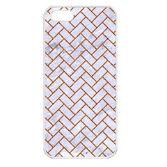 Brick2 White Marble & Rusted Metal (r) Apple Iphone 5 Seamless Case (white) by trendistuff