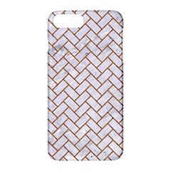 Brick2 White Marble & Rusted Metal (r) Apple Iphone 7 Plus Hardshell Case by trendistuff