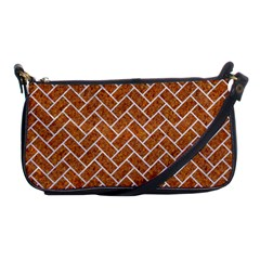 Brick2 White Marble & Rusted Metal Shoulder Clutch Bags by trendistuff