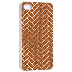 Brick2 White Marble & Rusted Metal Apple Iphone 4/4s Seamless Case (white) by trendistuff