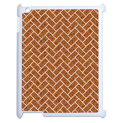 Brick2 White Marble & Rusted Metal Apple Ipad 2 Case (white) by trendistuff