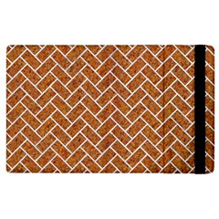 Brick2 White Marble & Rusted Metal Apple Ipad 3/4 Flip Case by trendistuff
