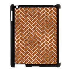 Brick2 White Marble & Rusted Metal Apple Ipad 3/4 Case (black) by trendistuff