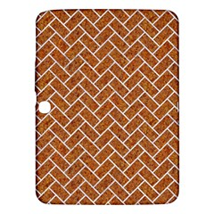 Brick2 White Marble & Rusted Metal Samsung Galaxy Tab 3 (10 1 ) P5200 Hardshell Case  by trendistuff