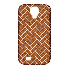 Brick2 White Marble & Rusted Metal Samsung Galaxy S4 Classic Hardshell Case (pc+silicone)