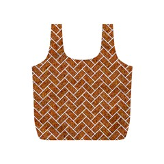 Brick2 White Marble & Rusted Metal Full Print Recycle Bags (s)  by trendistuff