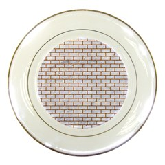 Brick1 White Marble & Rusted Metal (r) Porcelain Plates by trendistuff