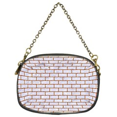 Brick1 White Marble & Rusted Metal (r) Chain Purses (one Side)  by trendistuff