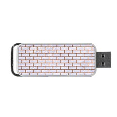 Brick1 White Marble & Rusted Metal (r) Portable Usb Flash (one Side) by trendistuff