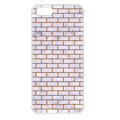 Brick1 White Marble & Rusted Metal (r) Apple Iphone 5 Seamless Case (white) by trendistuff