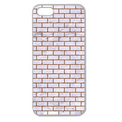 Brick1 White Marble & Rusted Metal (r) Apple Seamless Iphone 5 Case (clear) by trendistuff