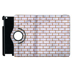 Brick1 White Marble & Rusted Metal (r) Apple Ipad 2 Flip 360 Case by trendistuff