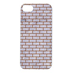 Brick1 White Marble & Rusted Metal (r) Apple Iphone 5s/ Se Hardshell Case by trendistuff