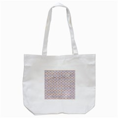 Brick1 White Marble & Rusted Metal (r) Tote Bag (white)