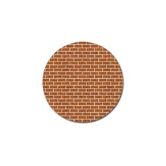 Brick1 White Marble & Rusted Metal Golf Ball Marker by trendistuff