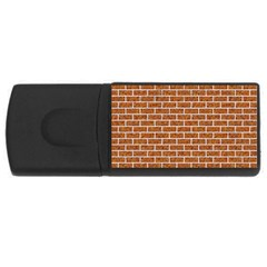 Brick1 White Marble & Rusted Metal Rectangular Usb Flash Drive by trendistuff