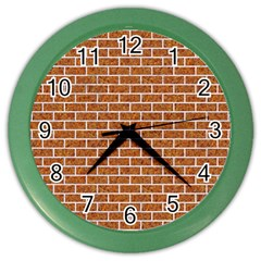 Brick1 White Marble & Rusted Metal Color Wall Clocks by trendistuff