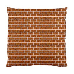 Brick1 White Marble & Rusted Metal Standard Cushion Case (two Sides) by trendistuff