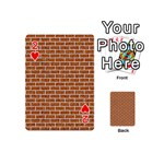 BRICK1 WHITE MARBLE & RUSTED METAL Playing Cards 54 (Mini)  Front - Heart2