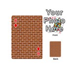 BRICK1 WHITE MARBLE & RUSTED METAL Playing Cards 54 (Mini)  Front - Diamond6