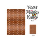 BRICK1 WHITE MARBLE & RUSTED METAL Playing Cards 54 (Mini)  Back
