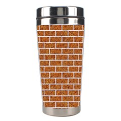 Brick1 White Marble & Rusted Metal Stainless Steel Travel Tumblers by trendistuff