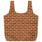 BRICK1 WHITE MARBLE & RUSTED METAL Full Print Recycle Bags (L)  Front
