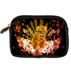 Cute Little Tiger With Flowers Digital Camera Cases by FantasyWorld7